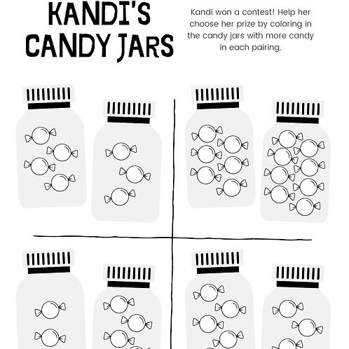 FREE Coloring Page -  Candy Jars 免費顏色紙 - 糖菓罐