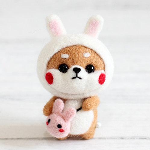 DIY- 可愛扮小兔小狗 (套裝包) DIY My Rabbit Doggie (Package)