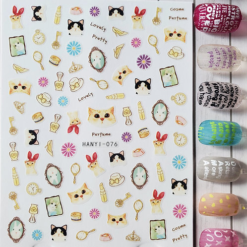 3D Nail Art Stickers Decals #89