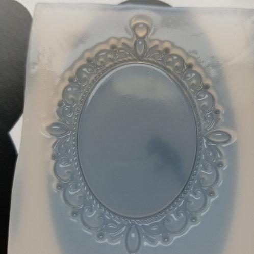 DIY Mirror Mould -Accessories 古典高級樹脂模具 1個