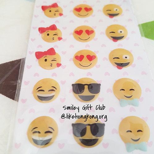 STICKERS - Crystal Smiley Emoji 水晶貼紙 -表情符號