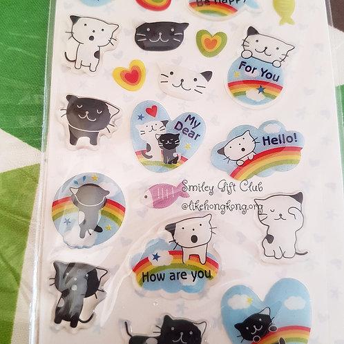 STICKERS - Lovely Cat 水晶貼紙 - 可愛貓咪