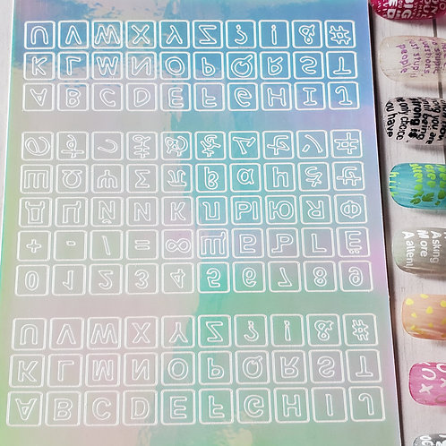 3D Nail Art Stickers Decals #101