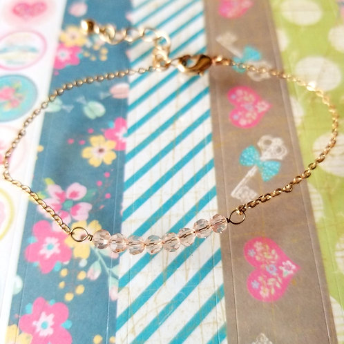 BRACELET Pink Beads 粉色晶石手繩