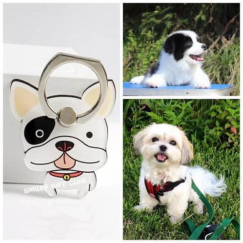 THEME - 寵物手機指環 (黑白) Pets Mobile Ring Souvenirs (B/W)