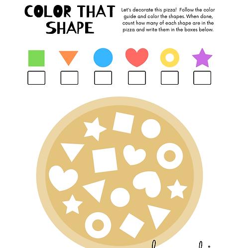 FREE Coloring Page - shape 免費顏色紙 - 圖案