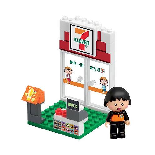 【香港限定玩具】小丸子便利店 711小丸子情景模型 Maruko Puzzle