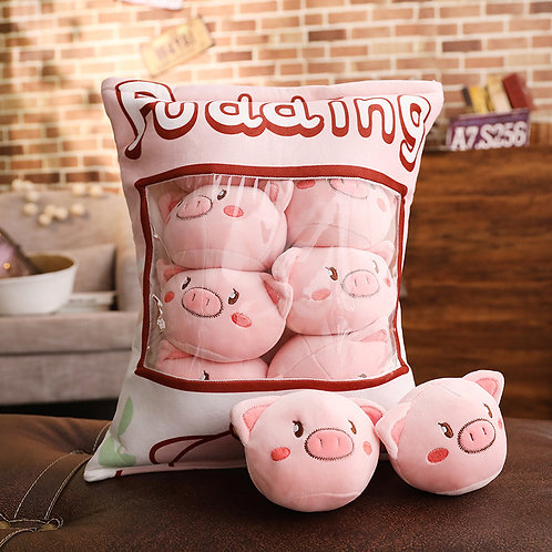 Plush Toys Claw Machine - Pig Small Size 刺繡豬仔拳頭尺寸 (10 pieces)