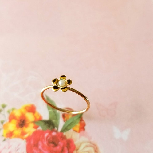RING- Little Flower 小花仿珍珠戒指