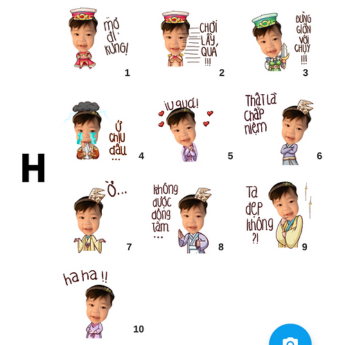Cute Series Template H1-H10 人像DIY產品素材 H1-H10 (1 piece/1 order)