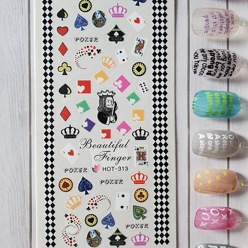 3D Nail Art Stickers Decals #103