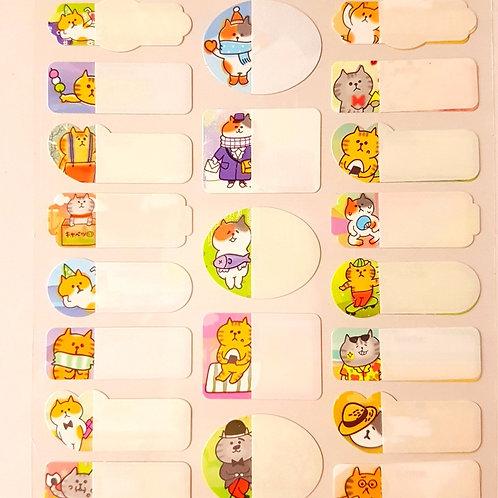 STICKERS - 防水姓名貼紙 動物園 Name Stickers Series Zoo