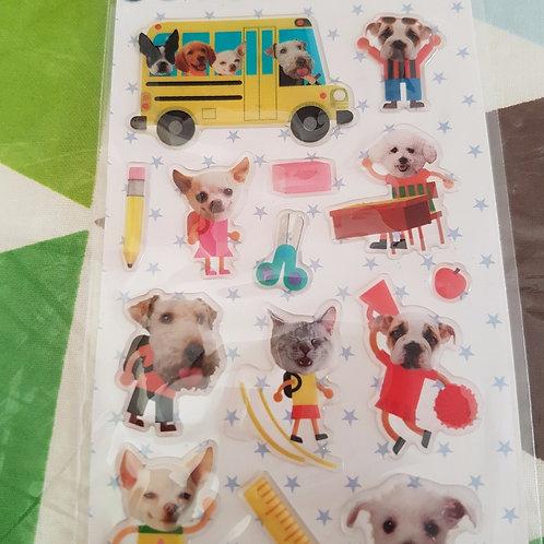 STICKERS - Funny Cat & Dog 水晶貼紙 - 可愛貓狗