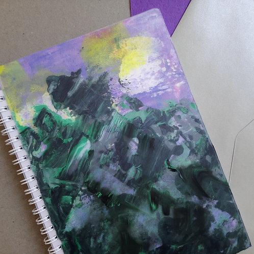 HK DESIGN - Original artwork A5 Notebook (Journal) 原創塑膠彩畫封面A5筆記本 (日誌) 1
