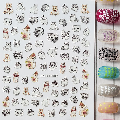 3D Nail Art Stickers Decals #92