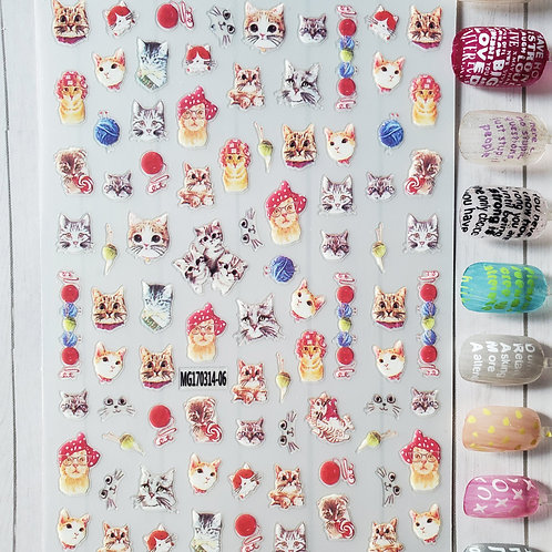 3D Nail Art Stickers Decals #90