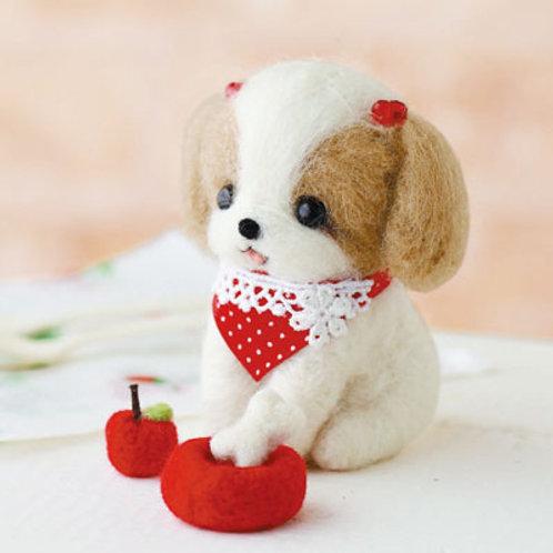 DIY- 日本羊毛氈Q版西施犬 (套裝包) DIY  Shih Tzu dog (Package)