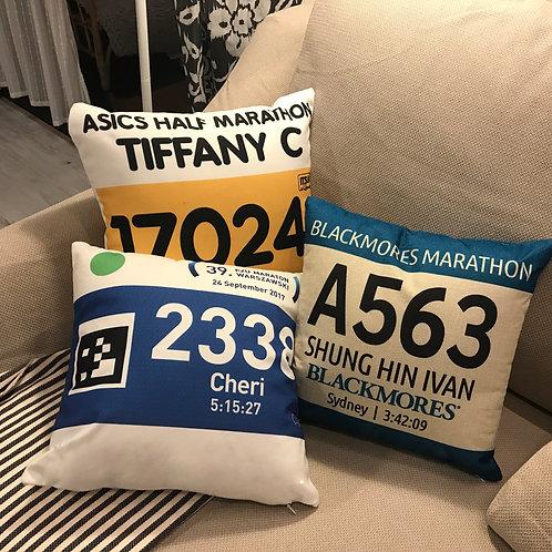 Marathon Cushion 迷你方枕號碼布咕臣