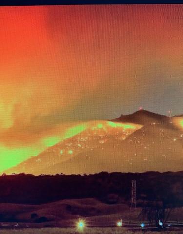 Crews battle fire on slopes of Mt. Diablo (ABC7 News)