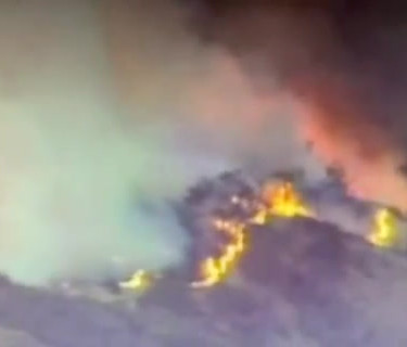 Video of Mt Diablo fire