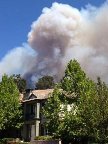 Danville resident's home near Mt Diablo fire