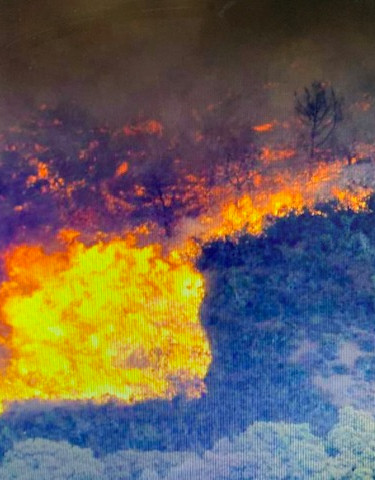 Mt Diablo fire triples in size