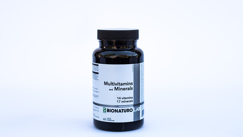 Multivitamins and Minerals 60 tabs