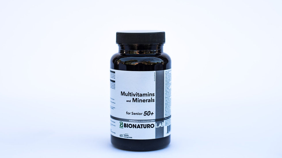 Multivitamins and Minerals for Senior 50+ 60 tab