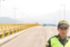 Police Officer at the Tienditas Bridge