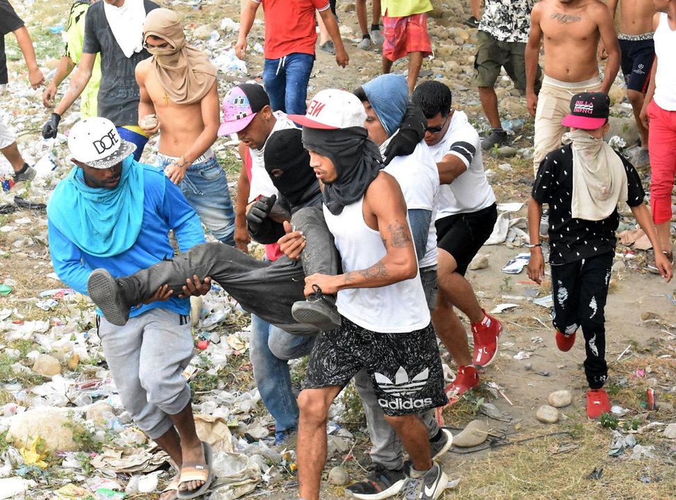 Wounded Venezuelan protestor