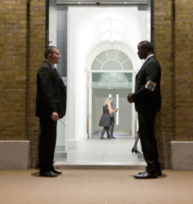 Corporate security guards at Saatchi Gallery