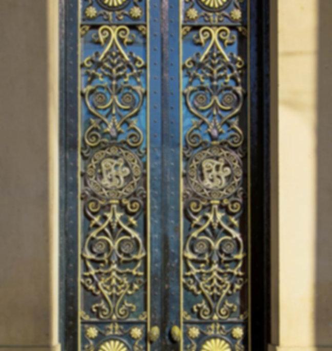 Gold colour ornnate door