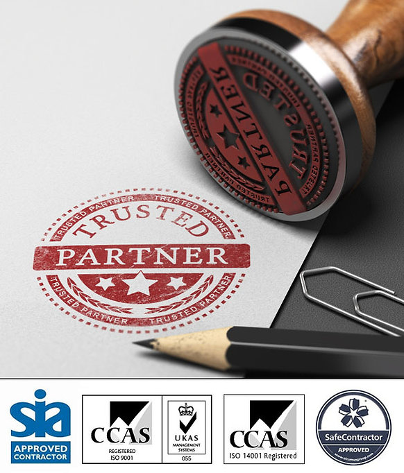 Rubber stamp of truted partner