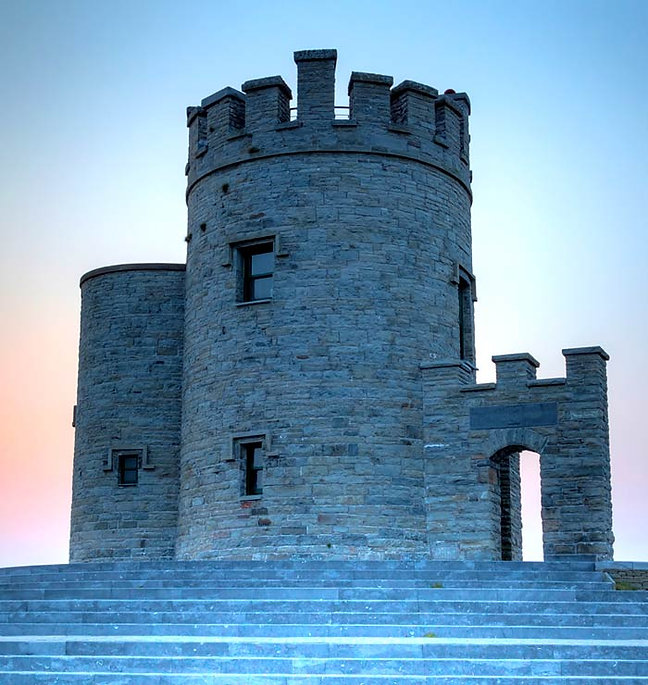 A round turret of a castle