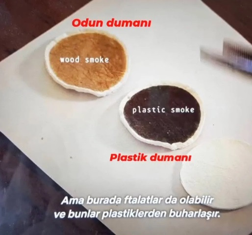 Plastik dumanı ve odun dumanı farkı
