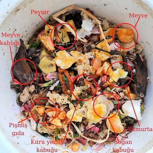 Bokashi kompostuna atılanlar