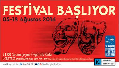 14. Kadıköy Belediyesi Tiyatro Festivali Başladı
