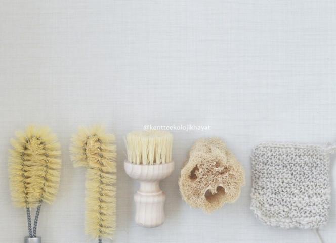 Doğal mutfak fırça ve lifleri