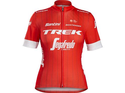 Camiseta feminina para ciclismo da Equipe Trek-Segafredo
