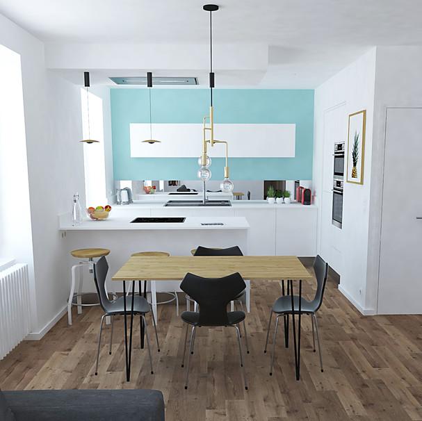séjour - cuisine