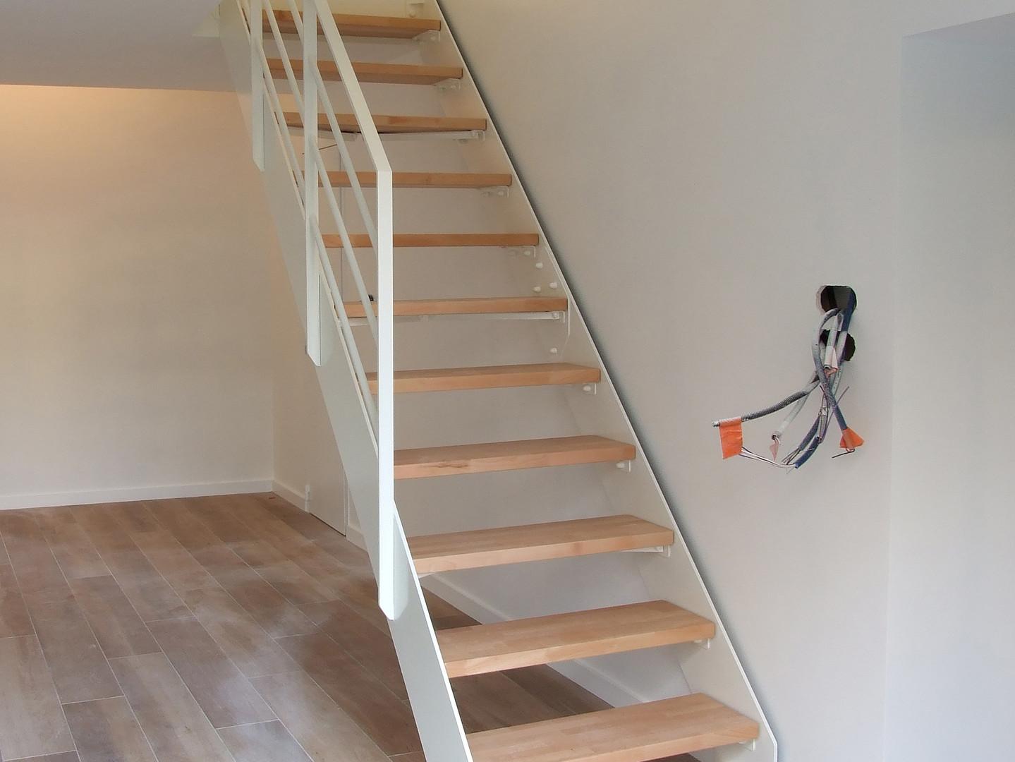 Escalier séjour - chantier