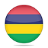 flag-mauritius-shiny-round-button-vector
