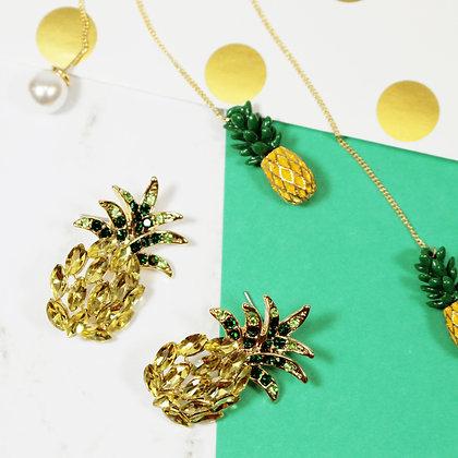 Crystal Pineapple Earrings
