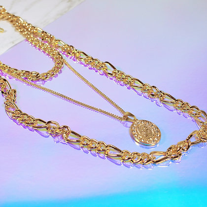 Maria Chunky Chain Layered Necklace