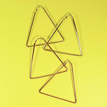 Triangle Shape Hoop Earrings
