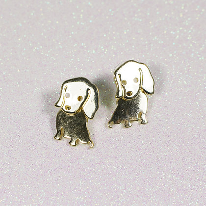 Moving Beagle Earrings