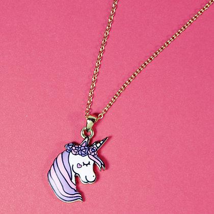 Flower Crown Unicorn Necklace
