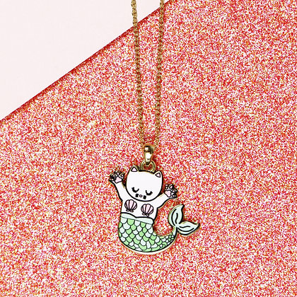 Happy Cat-Mermaid Necklace