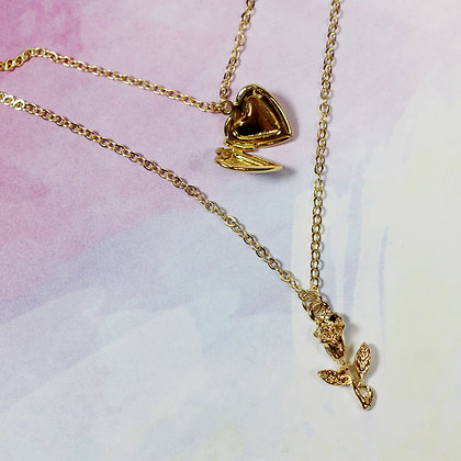 Heart Locket 2 Layered Necklace
