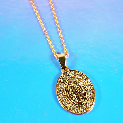 Guadalupe Round Crystal Necklace